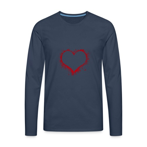 Herz/Heart - Männer Premium Langarmshirt
