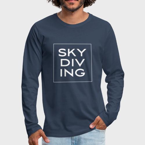 SKY DIV ING White - Männer Premium Langarmshirt