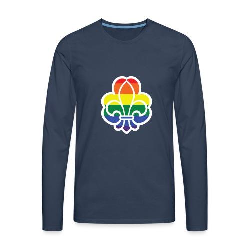 Regnbuespejder jakker og t-shirts mv - Herre premium T-shirt med lange ærmer