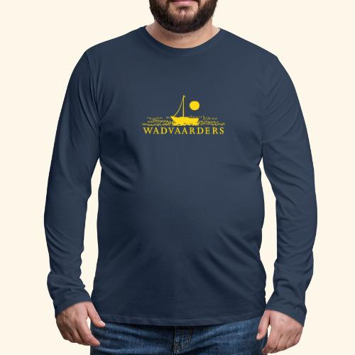 Wadvaarderslogo - Mannen Premium shirt met lange mouwen