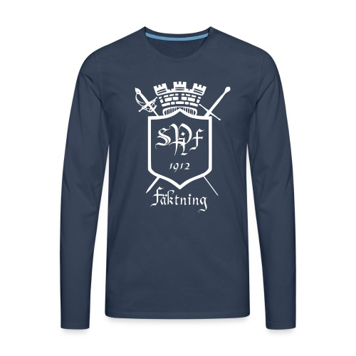 spiff logo white - Långärmad premium-T-shirt herr