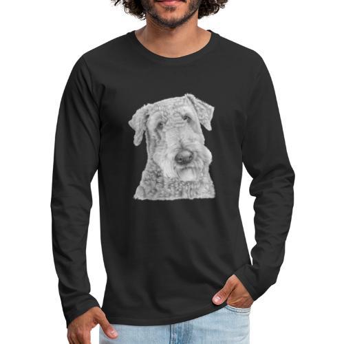 airedale terrier - Herre premium T-shirt med lange ærmer