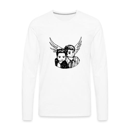 Destiel i sort/hvid - Herre premium T-shirt med lange ærmer