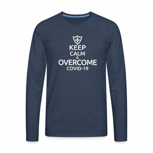 Keep calm and overcome - Koszulka męska Premium z długim rękawem