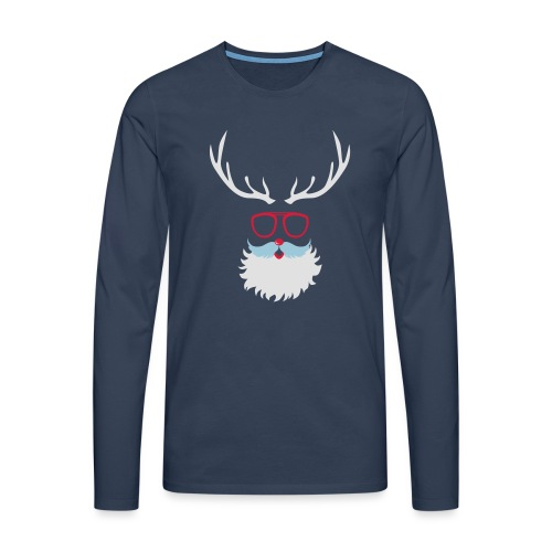 Santa Clauss Eye glasses - T-shirt manches longues Premium Homme
