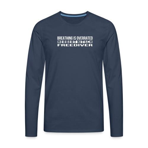 Breathing WHITE png - Men's Premium Longsleeve Shirt
