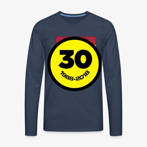 30 Jaar Belgian New Beat Smiley - Mannen Premium shirt met lange mouwen