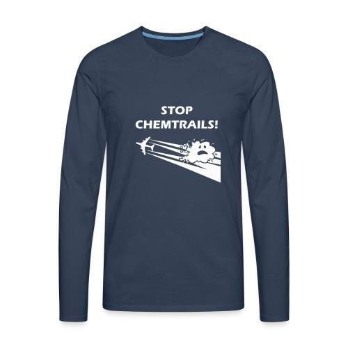 CAMISETA STOPCHEMTRAILS c - Men's Premium Longsleeve Shirt