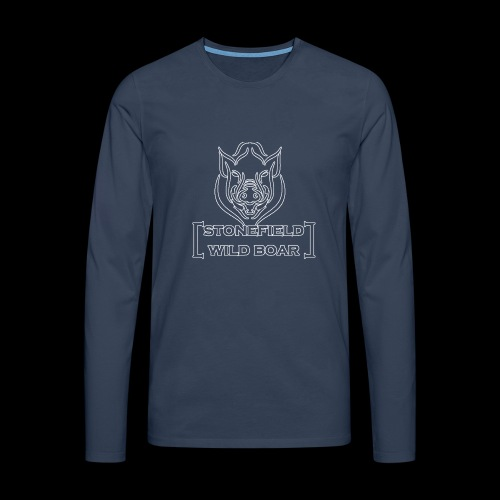 stonfield wild boar png - Männer Premium Langarmshirt