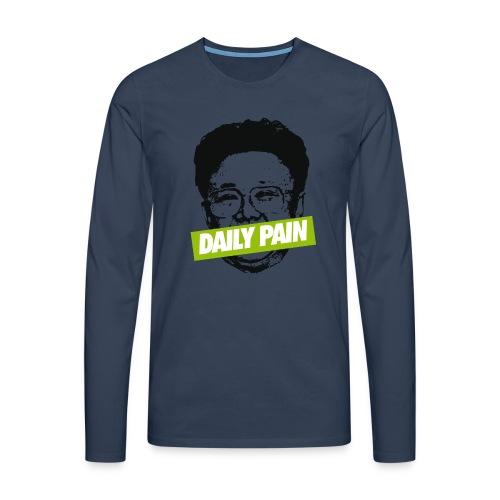 daily pain cho - Koszulka męska Premium z długim rękawem