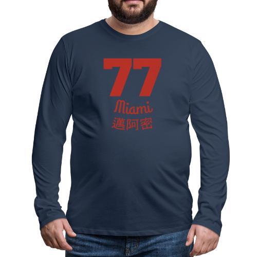 77 miami - Männer Premium Langarmshirt