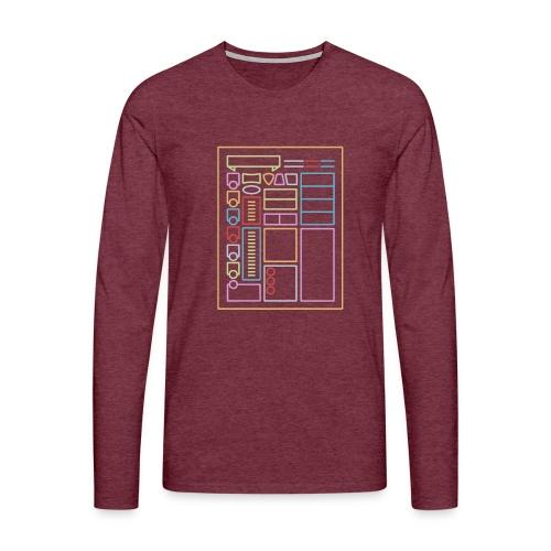Dnd-merkkilehti - DnD Dungeons & Dragons D & D - Miesten premium pitkähihainen t-paita