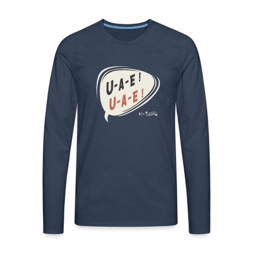 U A E T Shirt XXL dunkle Shirts png - Männer Premium Langarmshirt