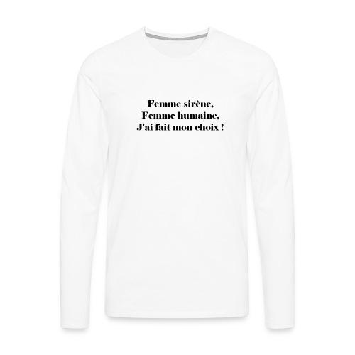 Ariel - T-shirt manches longues Premium Homme