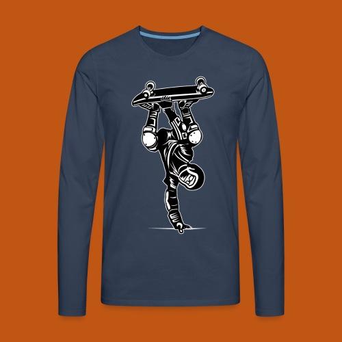 Skater / Skateboarder 02_schwarz weiß - Männer Premium Langarmshirt