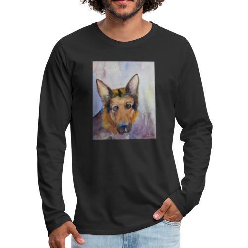 german shepherd wc - Herre premium T-shirt med lange ærmer