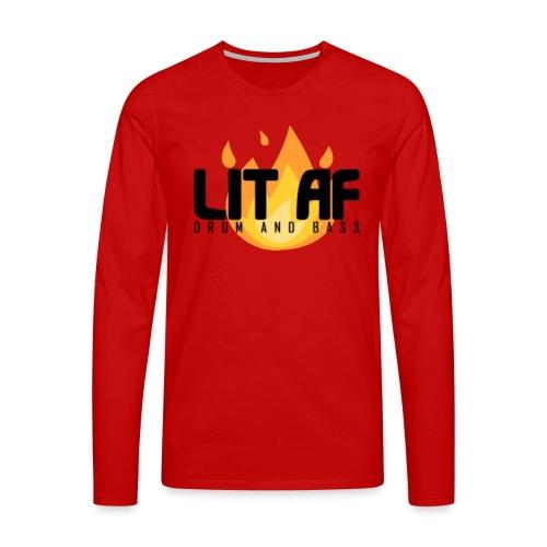 LIT AF Drum and Bass - Männer Premium Langarmshirt