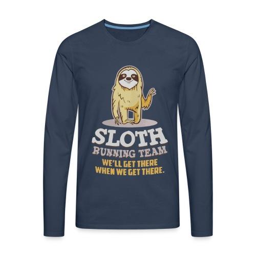 Sloth running team - Men's Premium Longsleeve Shirt