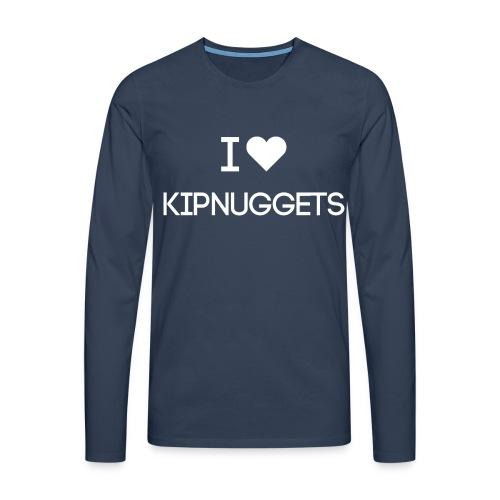 I LOVE KIPNUGGETS - Mannen Premium shirt met lange mouwen