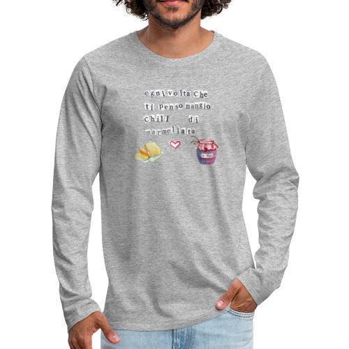 Marmellata - Maglietta Premium a manica lunga da uomo