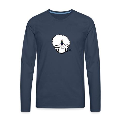 Ewenicorn - det er en regnbue enhjørning får! - Herre premium T-shirt med lange ærmer