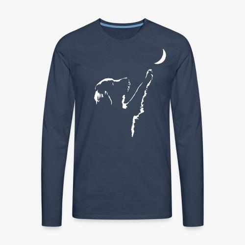dog moon - Männer Premium Langarmshirt