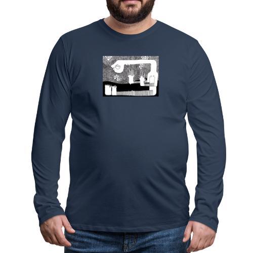 Himmel aus Punkten - Männer Premium Langarmshirt