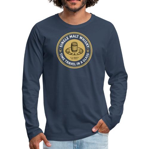 Time Travel in a Glass - Männer Premium Langarmshirt