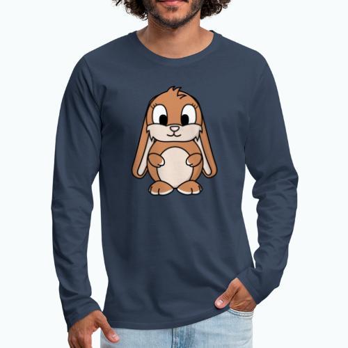 Lily Bunny - Appelsin - Långärmad premium-T-shirt herr
