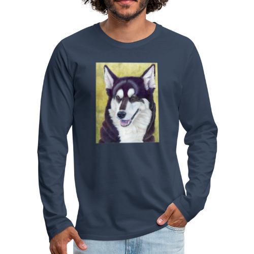 Siberian husky - Herre premium T-shirt med lange ærmer