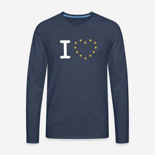I heart stars - Herre premium T-shirt med lange ærmer