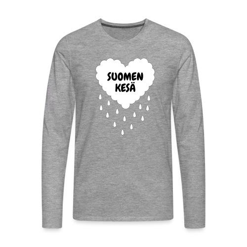Suomen kesä - Miesten premium pitkähihainen t-paita