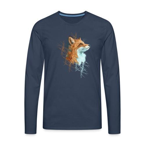 Happy the Fox - Männer Premium Langarmshirt