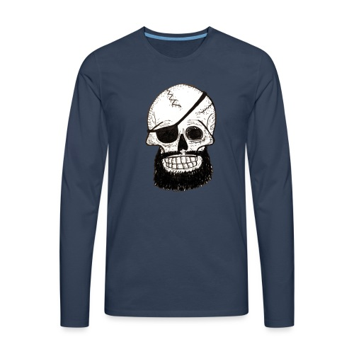 Bearded Skull - T-shirt manches longues Premium Homme