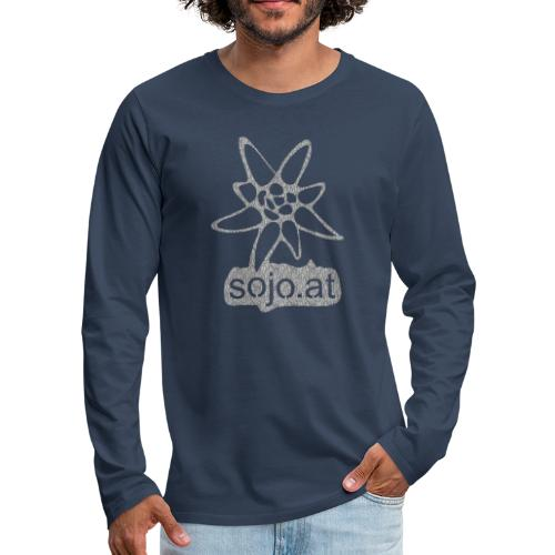 sojo.at Logo (Edelweiß und Sagzahn mit Schriftzug) - Männer Premium Langarmshirt