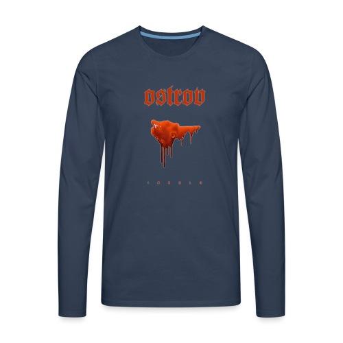 ostrov red - Koszulka męska Premium z długim rękawem