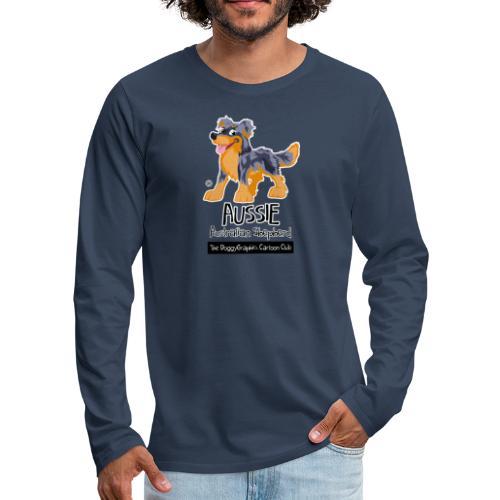 Aussie CartoonClub - Blue Merle & Tan - Men's Premium Longsleeve Shirt