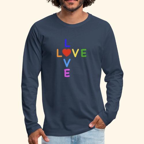 Rainbow Love. Regenbogen Liebe - Männer Premium Langarmshirt