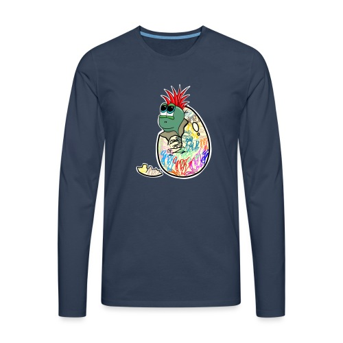 Punk Graffiti Bebe Schildkröte / Baby Dino Turtle - Männer Premium Langarmshirt