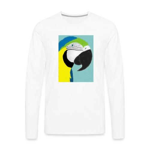 Parrot, new - Miesten premium pitkähihainen t-paita