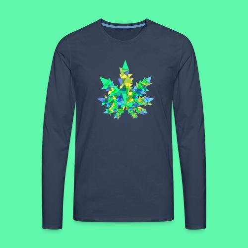 Mary Jane blue - Herre premium T-shirt med lange ærmer
