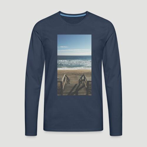 Escalera a la playa - Camiseta de manga larga premium hombre