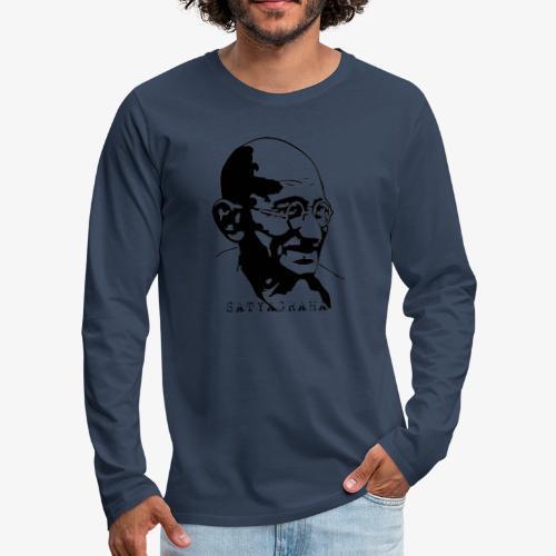 Gandhi Satyagraha - Långärmad premium-T-shirt herr