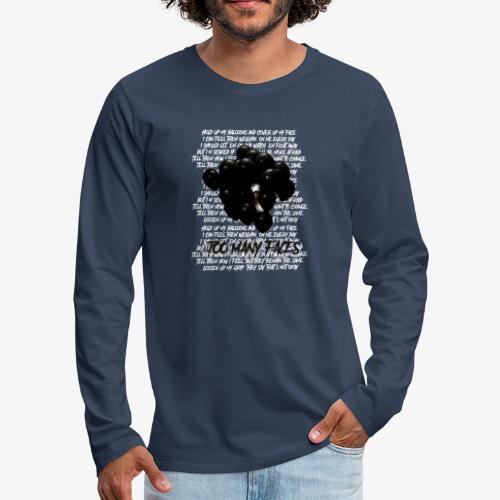 Too many faces (NF) - Men's Premium Longsleeve Shirt