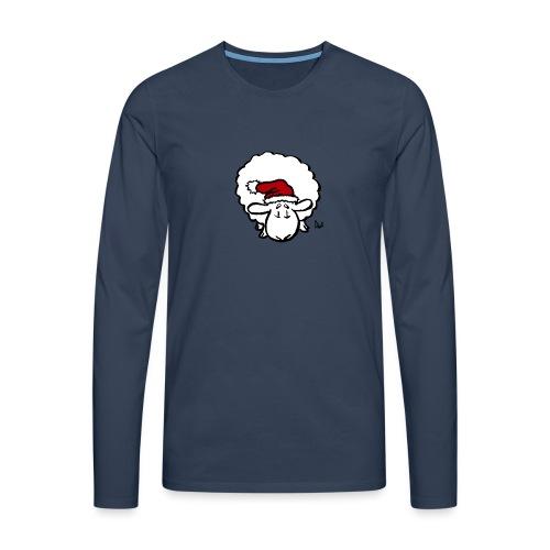 Santa Sheep (red) - Premium langermet T-skjorte for menn