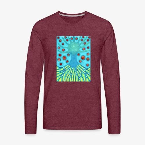 Drzewo I Planety - Koszulka męska Premium z długim rękawem