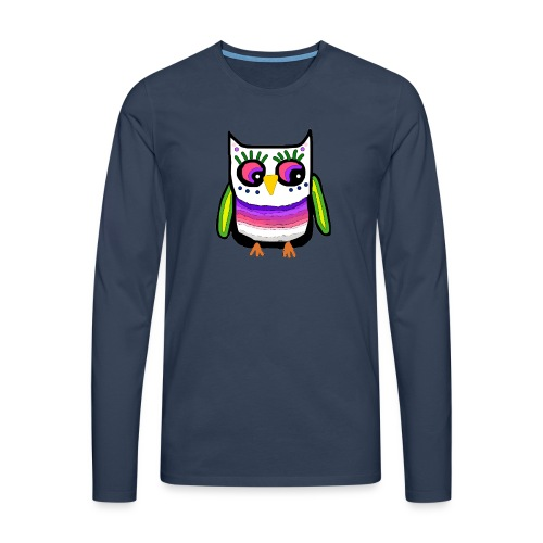 Colorful owl - Men's Premium Longsleeve Shirt