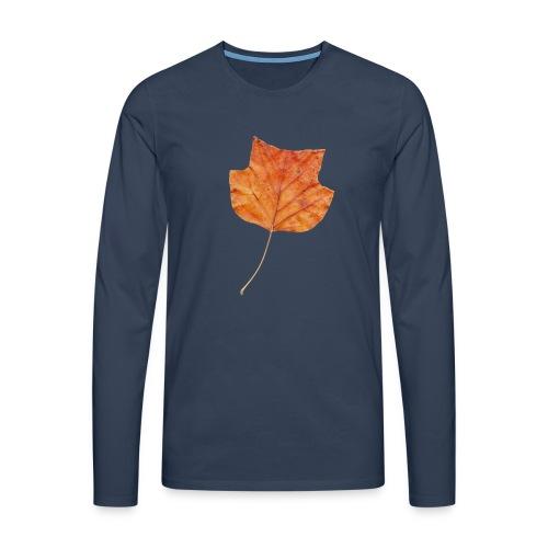 Herbst-Blatt - Männer Premium Langarmshirt