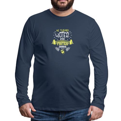 workout protein shake - Männer Premium Langarmshirt