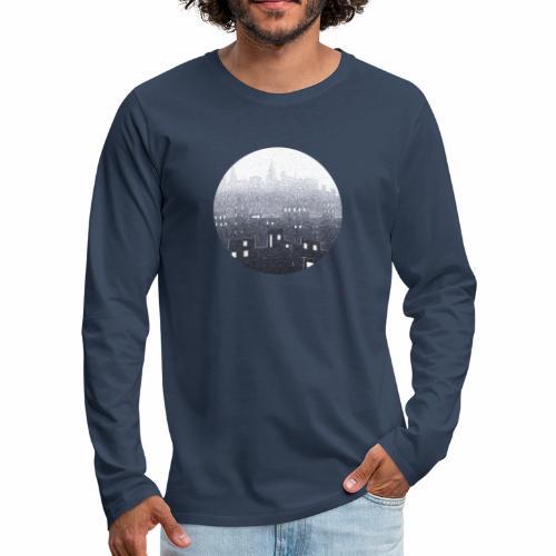 city hall snow blue - T-shirt manches longues Premium Homme